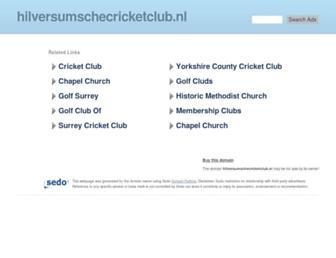 hilversumschecricketclub.nl screenshot