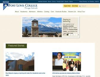 Main page screenshot of fortlewis.edu