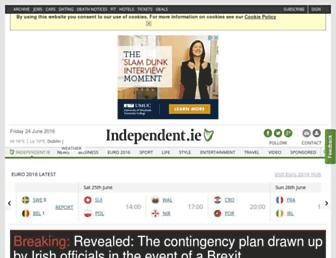 Main page screenshot of independent.ie