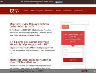 learnqtp.com screenshot
