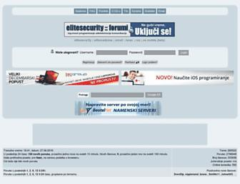 Main page screenshot of elitesecurity.org