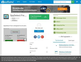 spydetectfree.en.softonic.com screenshot