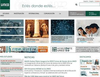 Main page screenshot of uned.es
