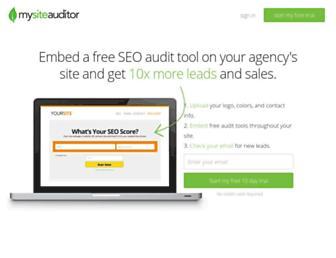 mysiteauditor.com screenshot