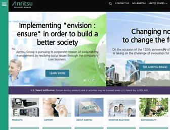 anritsu.com screenshot