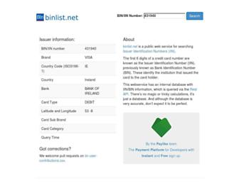 Thumbshot of Binlist.net