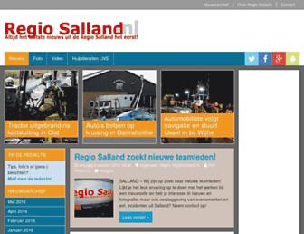 Main page screenshot of regiosalland.nl
