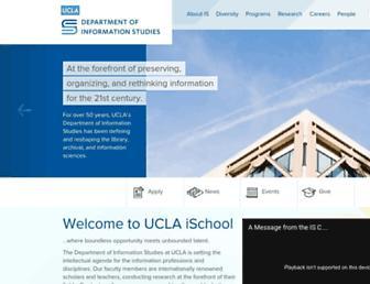 Main page screenshot of is.gseis.ucla.edu