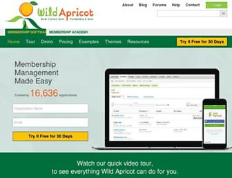 wildapricot.com screenshot
