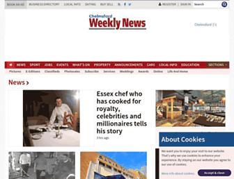 Main page screenshot of chelmsfordweeklynews.co.uk