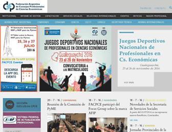 facpce.org.ar screenshot