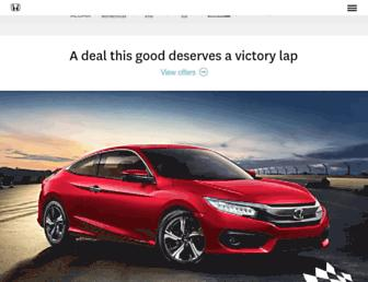 honda.ca screenshot