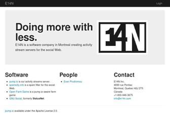 Main page screenshot of status.net