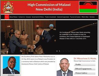 malawi-india.org screenshot