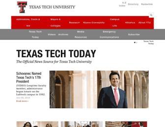 Main page screenshot of today.ttu.edu