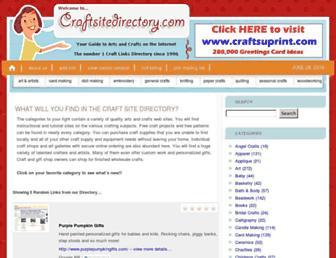 Thumbshot of Craftsitedirectory.com