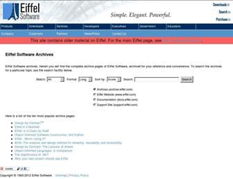 archive.eiffel.com screenshot