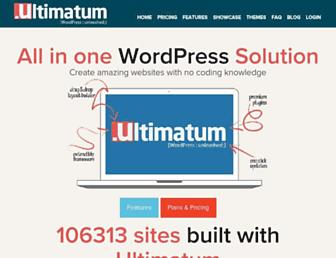 Thumbshot of Ultimatumtheme.com