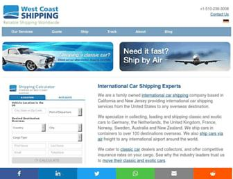 wcshipping.com screenshot