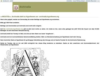 Main page screenshot of archiv.twoday.net