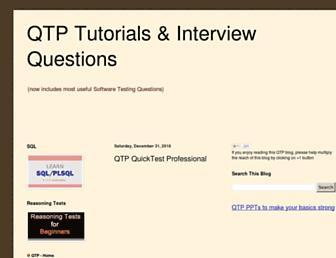 qtp.blogspot.com screenshot