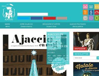 ajaccio.fr screenshot