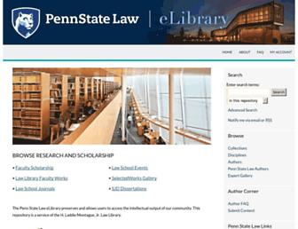 elibrary.law.psu.edu screenshot