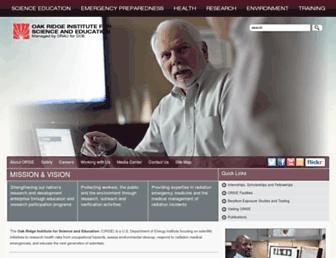 Main page screenshot of orau.gov