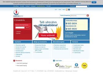 Main page screenshot of krediidiinfo.ee