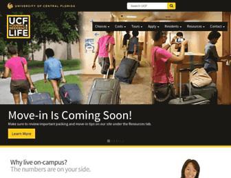 housing.ucf.edu screenshot