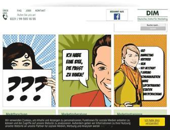 marketinginstitut.biz screenshot