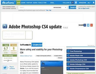 adobe-photoshop-cs4-update.en.softonic.com screenshot