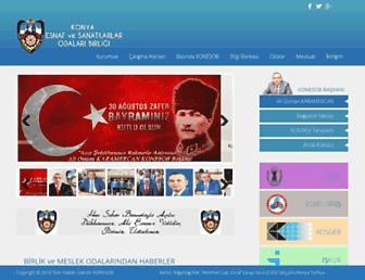 Main page screenshot of konesob.org.tr