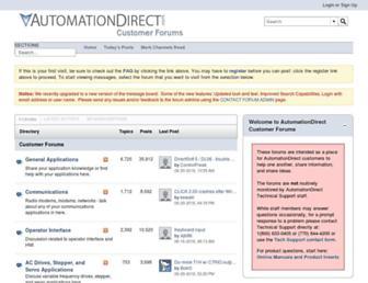 forum.automationdirect.com screenshot