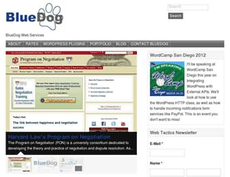 bluedogwebservices.com screenshot