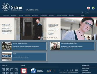 Main page screenshot of salem-net.de