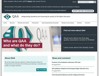 qaa.ac.uk screenshot