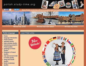 polish.study-time.org screenshot