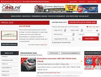 Main page screenshot of dezmembrarimasini.ro