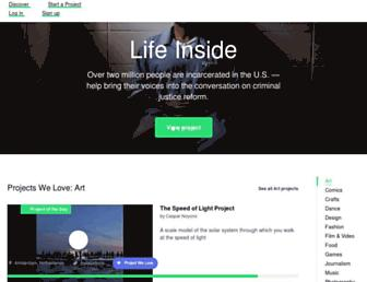 kickstarter.com screenshot