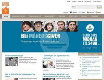 Main page screenshot of bymisjon.no