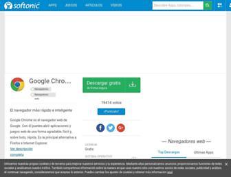 chrome.softonic.com screenshot