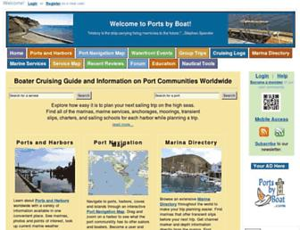 portsbyboat.com screenshot