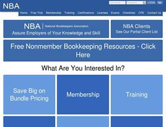 bookkeeperassociation.org screenshot