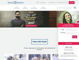 Main page screenshot of serasaexperian.com.br