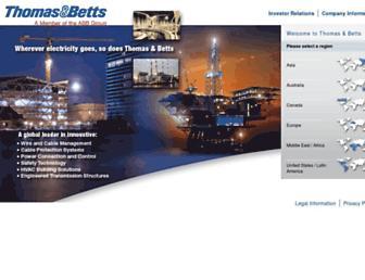 Main page screenshot of tnb.us