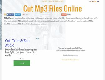 cutmp3.net screenshot