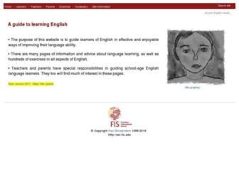 esl.fis.edu screenshot
