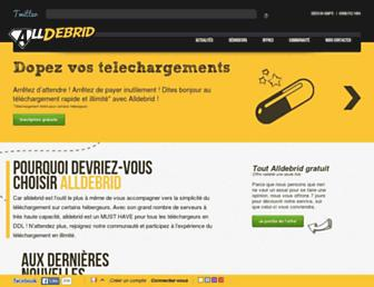 alldebrid.fr screenshot