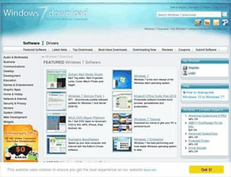 windows7download.com screenshot